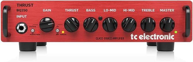 tc electronic BQ250 Thrust, cabezal de bajo compacto, rojo/negro