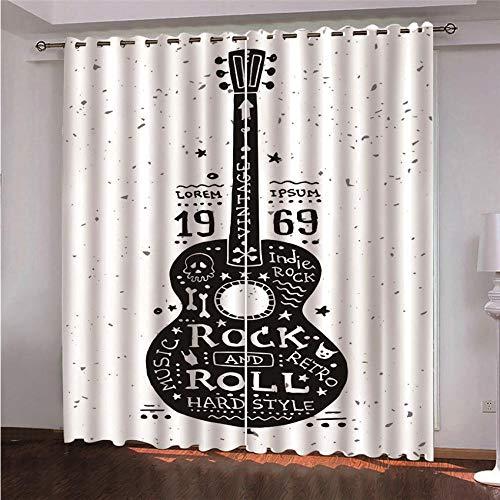 cortinas habitacion rock