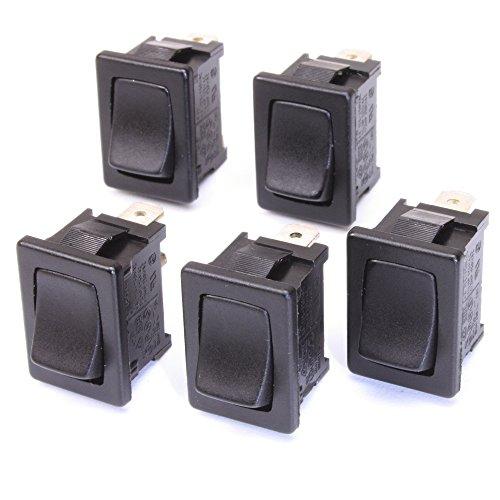 5 Stück Einbau-Wippschalter 1-polig ON-OFF 10(4) A-250VAC