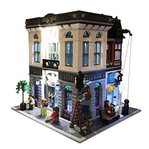Likecom Juego de iluminación LED para banco Brick Bank, compatible con bloques de construcción Lego 10251, sin set Lego