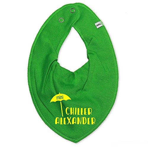 Halsdoek met naam | Motief mini chiller | bedrukken & personaliseren | slabbetjes voor baby & kinderen 0-2 jaar | perfect cadeau voor geboorte en doop