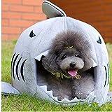 cabine letto forma di squalo per cane da compagnia morbida e calda per la casa gatti domestici sacco a pelo dell'animale domestico base del cane prodotto per cani di piccola taglia forniture