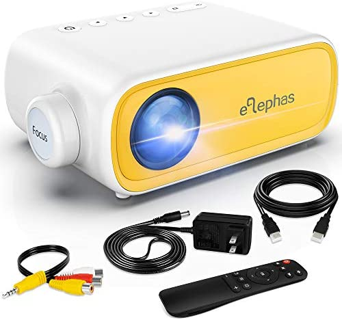 Mini Projector ELEPHAS Portable Projector for iPhone Video Smart Led Pocket Pico Small Home product image