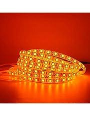 Amaonz Light Emitting Diode Strip Orange 600nm True Orange Light Emitting Diode strip light 5050 3528 SMD Flexible Light Emitting Diode tape rope lights 12V non-waterproof/waterproof 12V