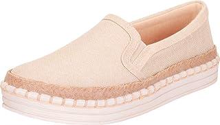Cambridge Select Women's Slip-On Espadrille Flatform Fashion Sneaker