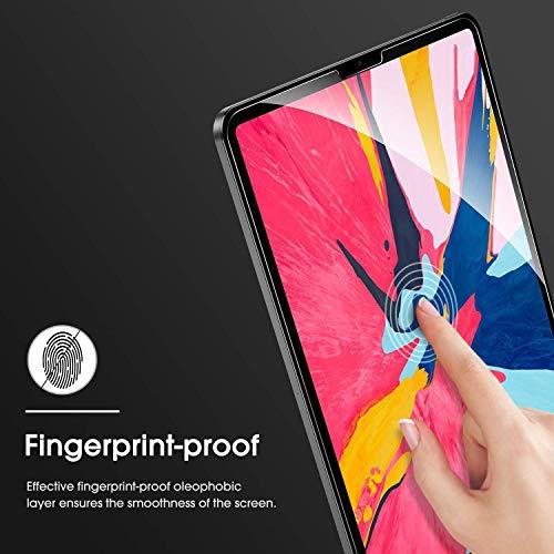 OMOTON [2 Stück] Schutzfolie für iPad Pro 11 Zoll (2020/2018), 9H Härte, Anti-Kratzer, Anti-Öl, Anti-Bläschen, 2,5D Runde Kanten,Face ID möglich,kompatibel mit Apple Bleistift, aktualisiert Version