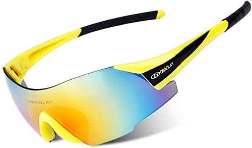 QXHMYJ Lumière polarisée Lunettes de Soleil Sport Prougeection UV400 Lunettes de Cyclisme HD PC Coupe-Vent Prougeection des Yeux Lunettes de Sport Utilisé pour équitation Conduire Ski Pêche