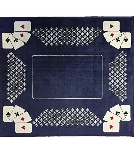 Casâme Tapis de Cartes à Jouer Bleu