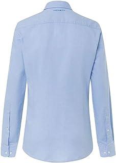 Hackett - Camisa de manga larga para hombre, diseño de cuadros, color azul