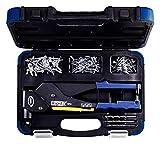 Rapid Blindnietzange RP60 Multi mit 360° drehbarem Kopf, Koffer inkl.  150 Nieten und 3 Bohrern,...