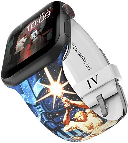 Star Wars - Una nueva correa para reloj inteligente Hope - licencia oficial, compatible con Apple Watch (no incluido) - Se adapta a 42 mm y 44 mm