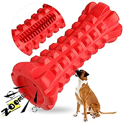HAOPINSH Squeaky Dog Toys for Large Breed Aggressive Chewers Almost Indestructible, Dog Squeaking Toys Durable Tough Dog Chew Toys for Medium Large Breed Natural Rubber Fun to Teething and Fetch