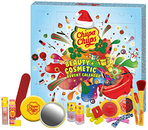 Chupa Chups Chupa'licious Christmas - Lolli'tastische Weihnachten mit diesem Kosmetikadventskalender - Offizielles Lizenzprodukt, 24 Stück