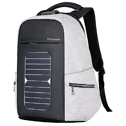 Eshow Solar Charger Laptop Backpack with USB Charging Port Fits 15.6'' Laptop Large Capacity
