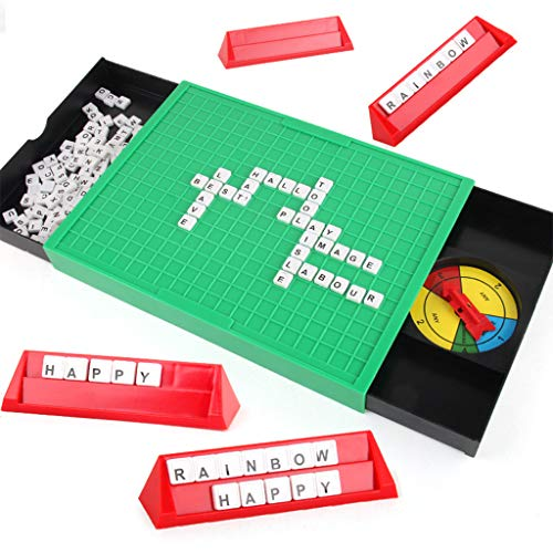JIACUO Funny Puzzle Learning English Toy Alphabet Spell Words Game Educational Board