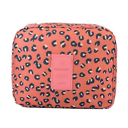 FENICAL Sac de Rangement pour cosmétiques Portable imprimé léopard Polyvalent Voyage Maquillage cosmétique Affaire Organisateur Pochette étanche
