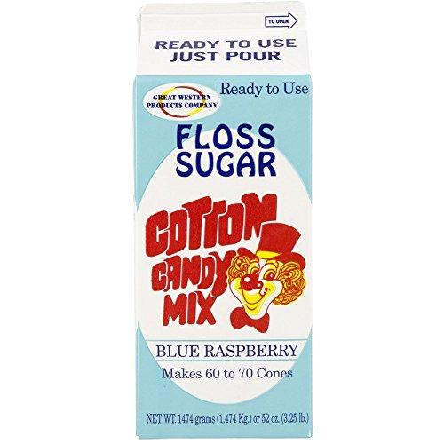 Concession Essentials - CE Floss Sugar- Blue Rasp-1ct Cotton Candy Floss Sugar
