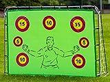 But de football avec cibles, 7 x 5 pieds, défi de points, buts 2 en 1