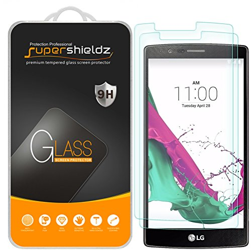 (2 Pack) Supershieldz Designed for LG G4 Tempered Glass Screen Protector, Anti Scratch, Bubble Free
