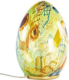 Lampe d'ameublement en verre Murano pièce unique avec filigrane, filet, murrina. Authentique certifié Murano