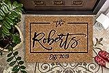 Housewarming Gift | Wedding Gift | Custom Doormat | Personalized Doormat | Closing Gift | Welcome Doormat | Front Door Mat | Monogram Rug
