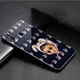 Luxury Phone Case for Samsung Galaxy Note 9 Cover,9H Tempered Glass Back Cover Soft Silicone Anti Scratch Bumper Design LB-77 Bad Bunny Maluma Lil Peep Leading Protective Case