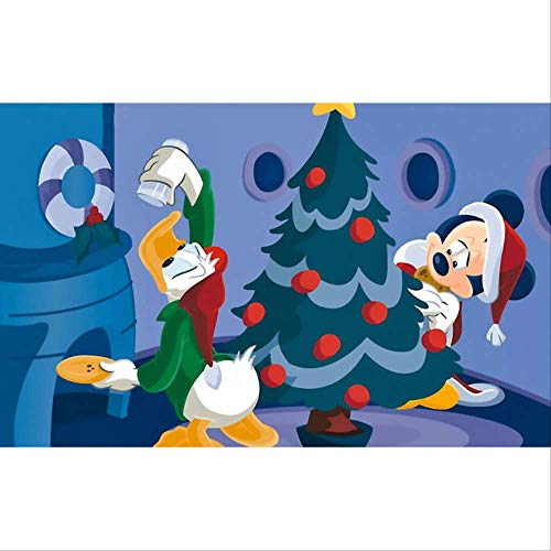 muurstickers, Diy 5d Diamond Mickey Mouse Home Decor, Borduurwerk Schilderij Cartoon Moive Karakter Cross Stitch Volledige Ronde Boor Muur Sticker 75x100cm F