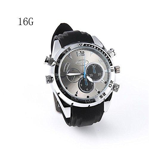 Reloj Impermeable Full HD 1080P 1920 × 1080P Cámara espía Reloj Impermeable Mini DV caché Visión Nocturna Grabación de Vídeo Grabadora de Voz, Cámara Espión, Cámara Nanny y Cámara de Seguridad