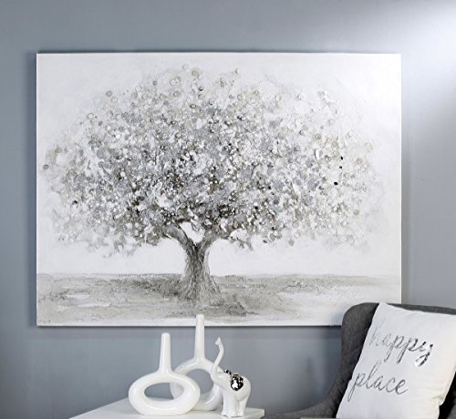 Casablanca Bild Big Tree weiss/grau/silber90x70cm