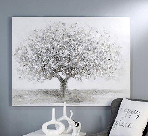 Casablanca Ölbild Big Tree weiss/grau/silber120x90cm