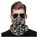 Yeuss Camo tessuto di Head Sciarf, Moderno Colore pastello Camouflage Ripetizione Classica Uniforme Art, Può essere usato per coprire la testa e il viso turbante cambiabile