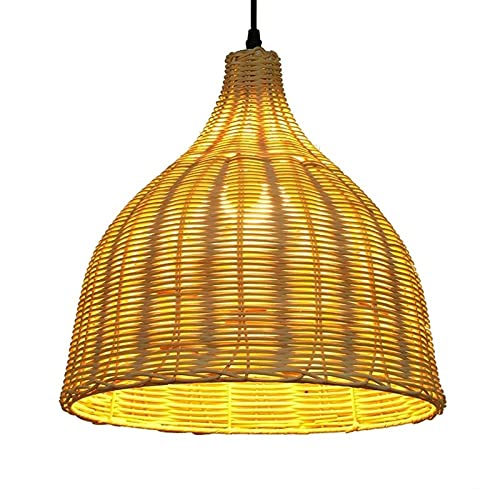 Estilo chino estilo de bambú moderno hecho de hechos a mano tejido de bambú de bambú araña de bambú linterna colgante luz encendido hotel decoración iluminación iluminación accesorio para el salón de