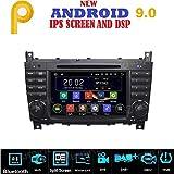 Android 9.0 GPS DVD USB SD WI-FI BT Autoradio 2 DIN Navigationssystem Mercedes C-Klasse W203/ C220/ C230/ C240/ C280/ CLK W209/ CLK200/ CLK 240/ Mercedes CLC-Klasse W203/ W467/ A209/ W219