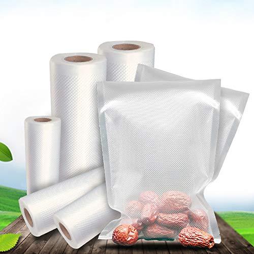 Rightpak sacchetti in alluminio rosso lucido con cerniera richiudibile e intaglio a strappo per confezionare alimenti 8cm x 13cm