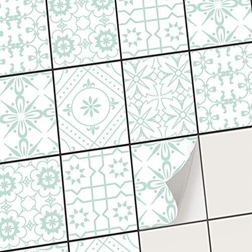 creatisto Mosaikfliesen Fliesenaufkleber Fliesenfolie - Hochwertige Aufkleber Sticker für Fliesen I Klebefliesen Deko Folien für Fliesen Ornament in Bad u. Küche (20x25 cm I 6 -Teilig)
