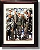 Framed Mash Autograph Replica Print - Mash Cast