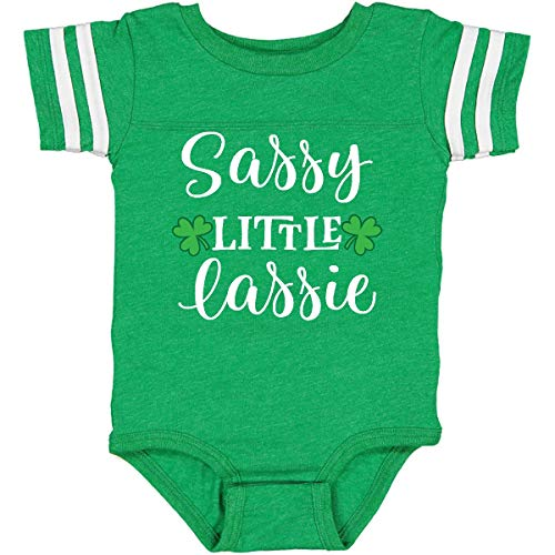 inktastic St Patricks Infant Creeper 18 Months Football Green and White 2ed94