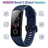 Docooler Honor Band 5 Smart Bracelet Watch Faces Smart Fitness Timer Intelligent Sleep Data Real-Time Heart Rate Monitoring 5ATM Waterproof Swim Stroke Recognition BT 4.2 Wristwatch (Navy Blue)