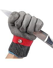 GuDoQi Snijbestendige Handschoenen, Roestvrij Staaldraad Metaalgaas Handschoenen, Handbescherming Van Niveau 5, Snijhandschoenen Voor Slachten, Houtsnijwerk, Mandoline Snijmachine