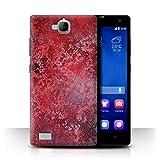 Stuff4 Phone Case for Huawei Honor 3C Red Fashion Bokeh