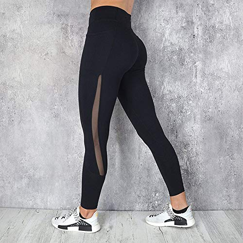 Yoga Pants For Women,Women Professional Running Fitness Leggings Gym Sport Tight Trouser Fashion With Pocket Mesh Splicing Slim Yoga Pants Pencil Leggins