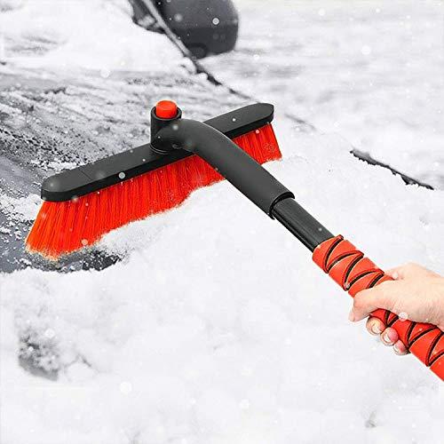 UIGJIOG Ice scraper with snowbrush, 2 in 1 Extensible ice scraper for...