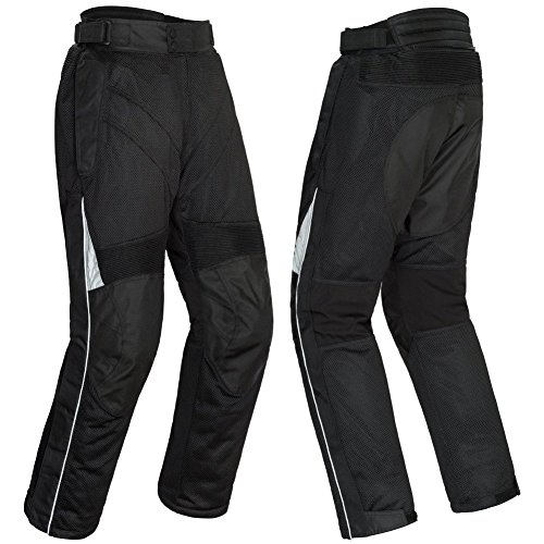 Tourmaster Venture Air 2.0 Women's Textile Motorcycle Pant (Black, Medium)