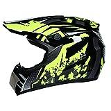 TYXTYX Casco de Motocross ATV Casco de Moto SUV Máscara + G