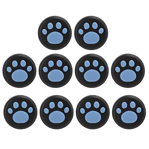 PS4 XBOXゲームコントローラーXBOX ONE用の優れたスキッド抵抗 シリコーンソフト、優れた斬新なデザインのジョイスティック、耐摩耗性親指グリップカバー(Blue claws on black)