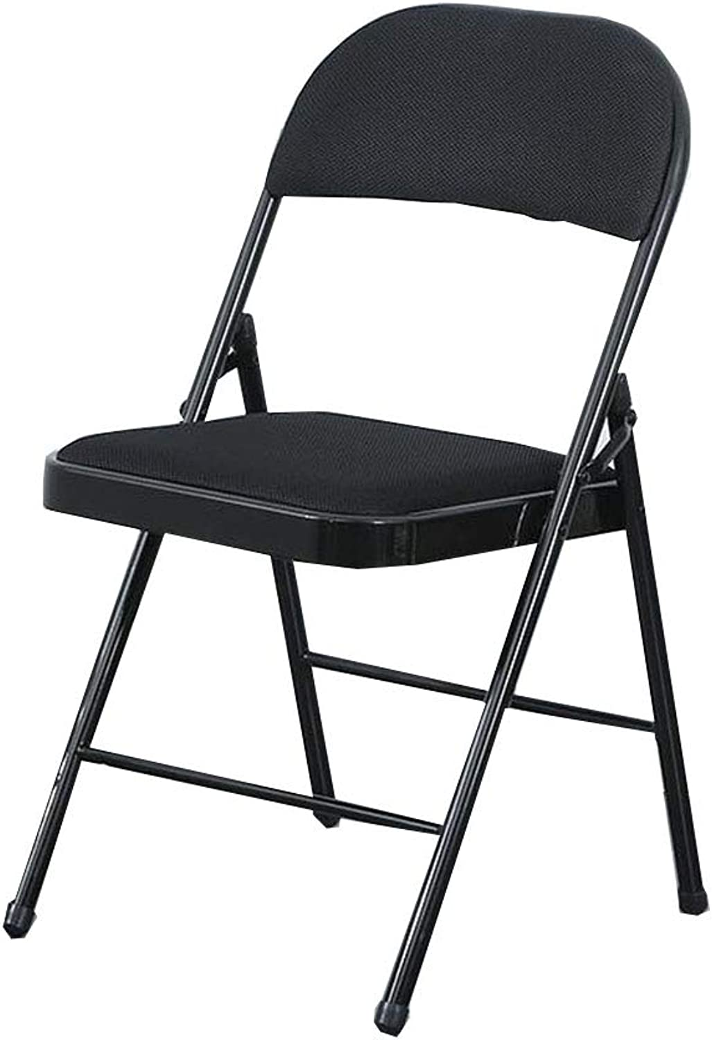 Household Folding Chair Meeting Training Dormitory Computer Simple Stool(47  45  88cm) (color   Black)