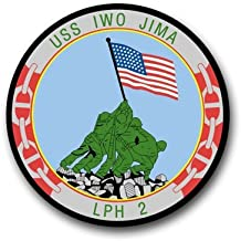 MilitaryDecals23 Magnet US Navy Ship USS Iwo Jima LPH-2 Decal Magnetic Sticker 5.5