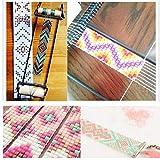 Aeloa Métier à Tisser de Perles en Bois et en Acier Inoxydable Métier à Bijoux Robuste et léger pour Tissage de Bracelet de Collier de Bricolage