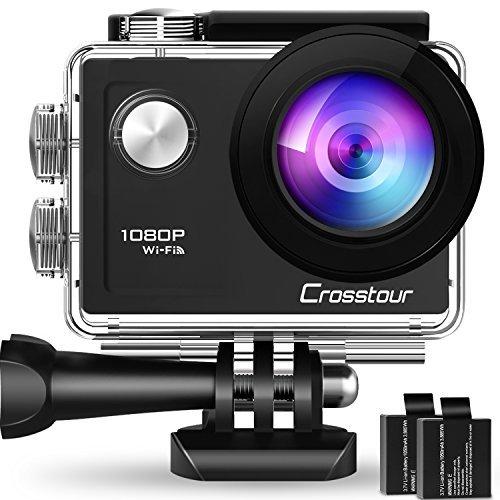 Crosstour Action Cam WiFi Sports Kamera 4K 12MP Ultra HD 2