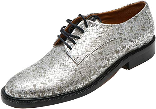 Clergerie Paris Women's Rosie Oxford Silver Mamba Ankle-High Leather - 6.5M
